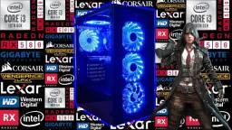 PC Gamer NOVO c/ Intel i3-10100 (10ª Geração) + RX 580 8GB