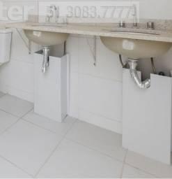 Bancada para Banheiro em Granito com Duas Cubas e Metais