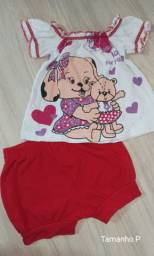 Conjunto vermelho Natal bebê Tam P