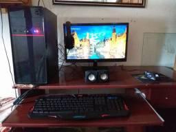 Pc Completo,mouse Gamer+teclado Gamer+fone Gamer+monitor+cpu