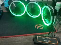 Kit 3 fans Aigo Dr12 c/ Controladora S/ controle