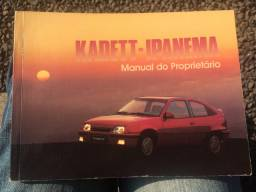Manual do Proprietário GM Kadett e Ipanema 1991