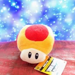 Cogumelo Jogo Mario Nintendo Luigi Toad Chaveiro Pelúcia (Último)