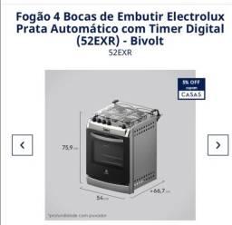 Fogão Electrolux 4 bocas modelo 52EXR de embutir  automático