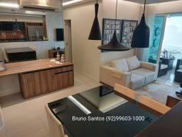 Residencial Topázio, Parque 10 / Adrianópolis, dois dormitórios, 82m², 100% mobiliado.