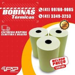 Bobina Térmica 80x30 - Caixa Com 30 Rolos - Amarela