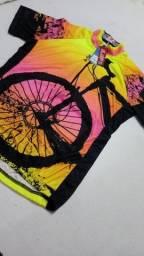 Camisa de ciclismo feminina bike nova