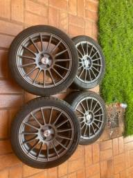 Vendo pneu215/45 R17 e roda
