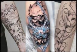 Tattoo/Tatuagem Meio Braço a partir de R$150