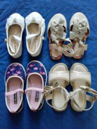 Lote de sapato e sandálias