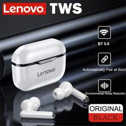 Fone de ouvido sem fio Lenovo lp1 bluetooth 5.0