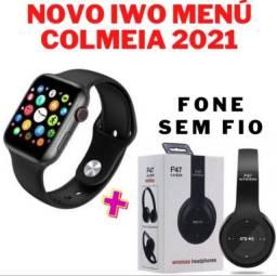 Kit Relógio Smartwatch + Fone