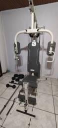 Estação de Musculação +Kit Pesos