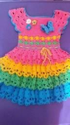 Título do anúncio: Vestidos em crochê para bebes