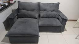 Sofá retrátil reclinável 2,30m