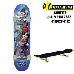 Skate Infantil Montado Liga Da Justiça Skateboard Bel