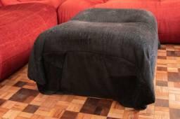 Título do anúncio: Puff (LER OBSERVAÇÕES) em Tecido Preto 32 cm x  75 cm x  60 cm