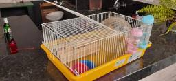 Gaiola para Hamster + kit acessórios para hamster (usados)