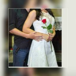 Vestido Branco Noiva Tam P