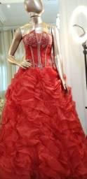 Vestido 15 anos vermelho