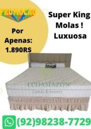 Título do anúncio: Cama Super King De Mola + 2 TRAVESSEIROS Ultimas unidades