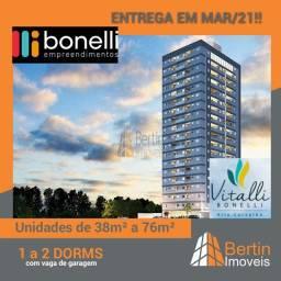 APARTAMENTOS PARA VENDA,BAIRRO VILA CARVALHO, AREA DE 38M²,1 DORMITORIO,EDIFICIO VITALLI A