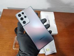 Título do anúncio: Galaxy s21 ultra 256gb prata semi novo