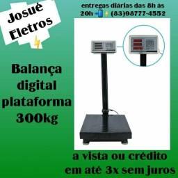 Título do anúncio: Balança digital plataforma 300kg_varejo e atacado entrega a domicílio jp e regiao