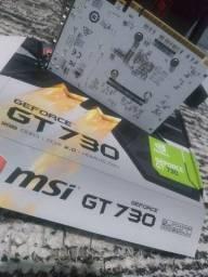 Placa de video Msi Nvidia geforce gt 730 2gb, ddr3 1 mês de uso