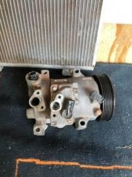 Compressor e condensador usado