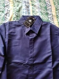 Camisa Social Azul Escuro