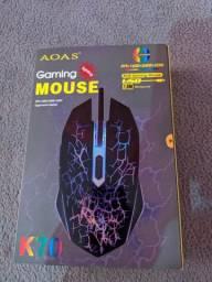 Mouse gamer com luz rgb