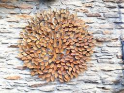 Mandala em flores  de ferro