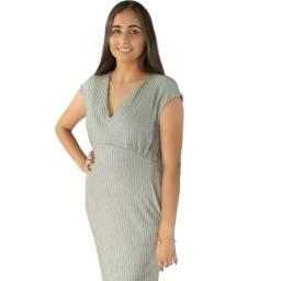 Vestido Lurex Com Decote V - Dzarm