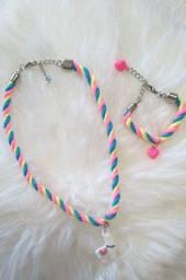 Lindos colar com pulseira infantil