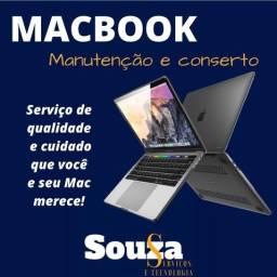 conaerto de macbook e notebook