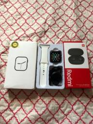 Smartwatch completo T900 + Redmi Airdots 2!