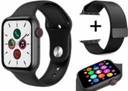 Smartwatch x7 faz recebe ligações troca pulseira acompanha pulseira milanesa