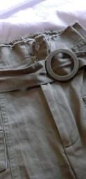 Short cintura alta verde militar