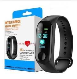 Relógio Bracelete Inteligente Smartband M3 Monitor Cardíaco