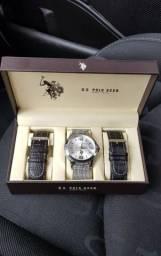 Relógio U.S. Polo ASSN. - Original, na caixa, três pulseiras, super elegante!
