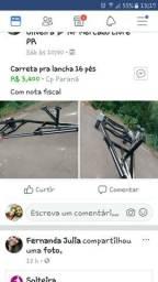 Carreta pra lancha 16 pés - 2018