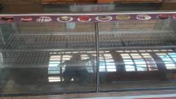 Expositor de tortas e frios padaria