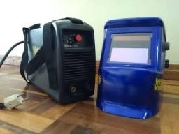 Máquina inversora de solda New Welder 160A + Máscara Professional + Eletrodos
