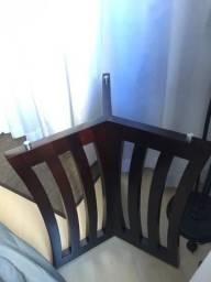 Pé de mesa em madeira imbuia -Le Baron