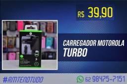 Carregador turbo motorola - novo com garantia - promoção