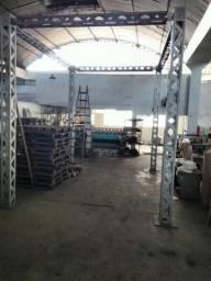 Estrutura de Alumínio para montagem de stands, eventos ou depósitos