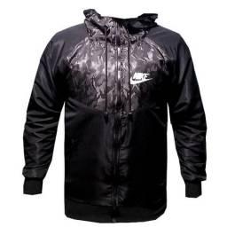 Jaqueta Blusa Blusão nova Corta Vento 2019 Frio Inverno Cinza Escuro e Preto