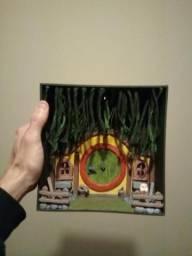 Casa estilo Hobbit miniatura