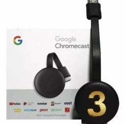 Novo Chromecast 3 Google 2019 Full Hd Bluetooth Original novo lacrado original